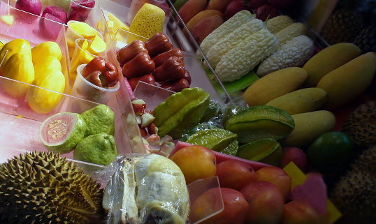 Variation Of Tropical Fruits In Taipei Taiwan Stock Photo - Download
