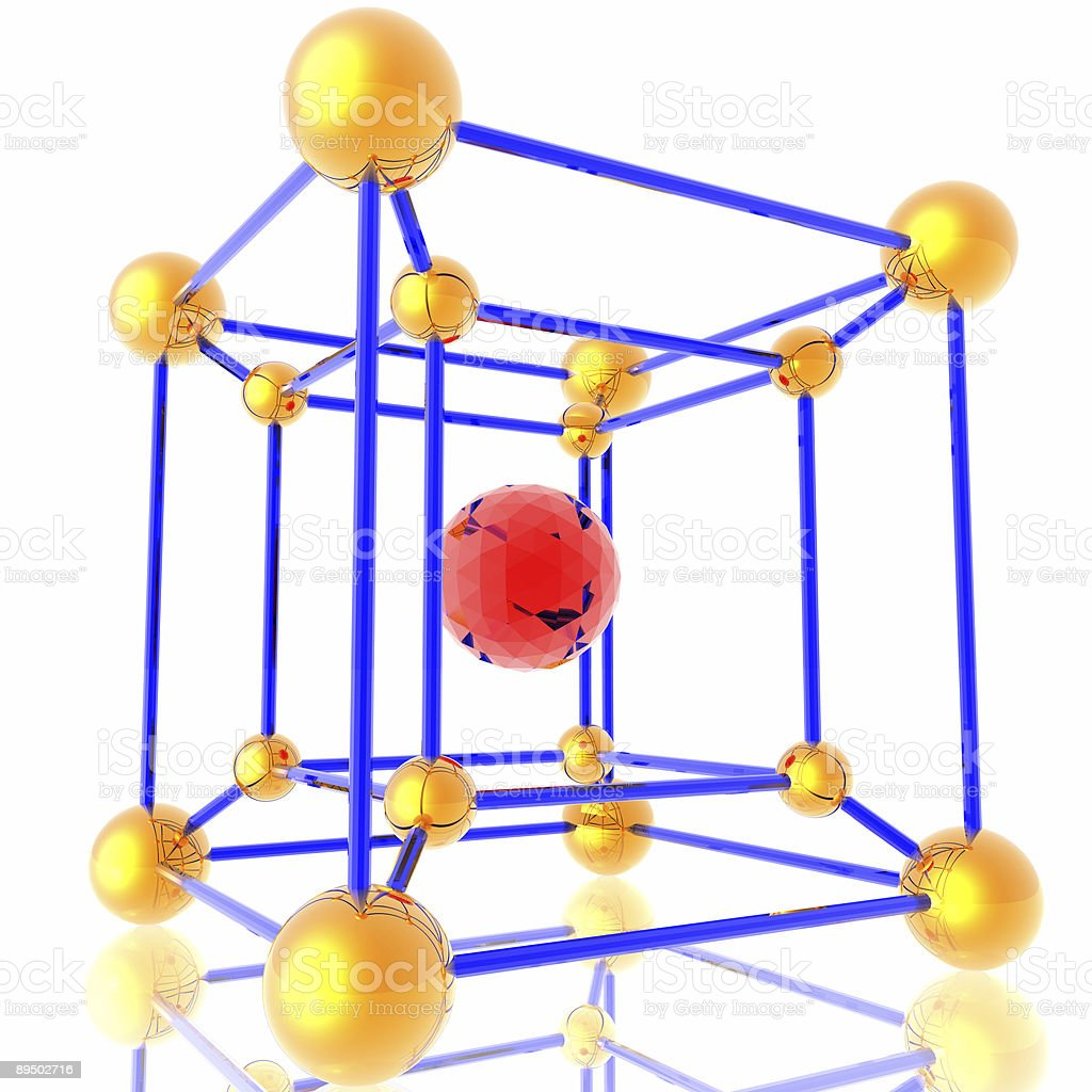 Variation on molecule theme royalty-free stock photo