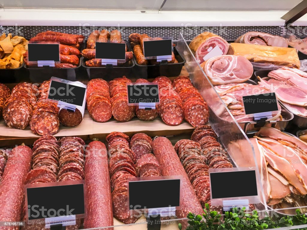 Salami de variation, chorizo et bacon en vente - Photo