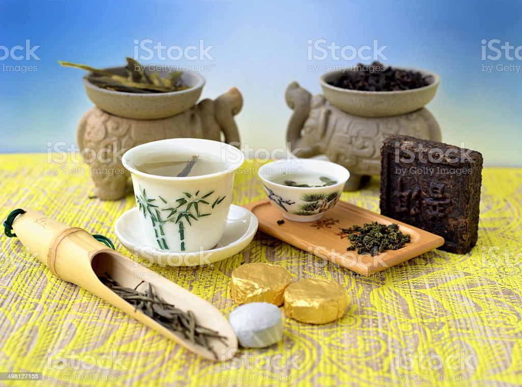 Variations of tea stock photo