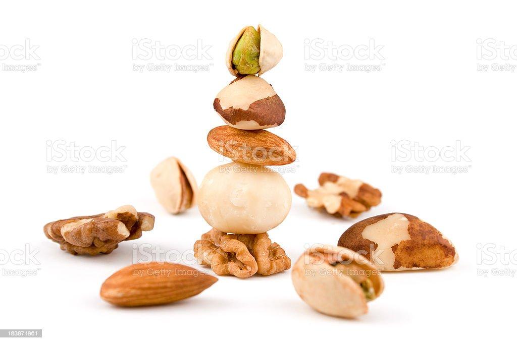 Variaty of nuts royalty-free stock photo