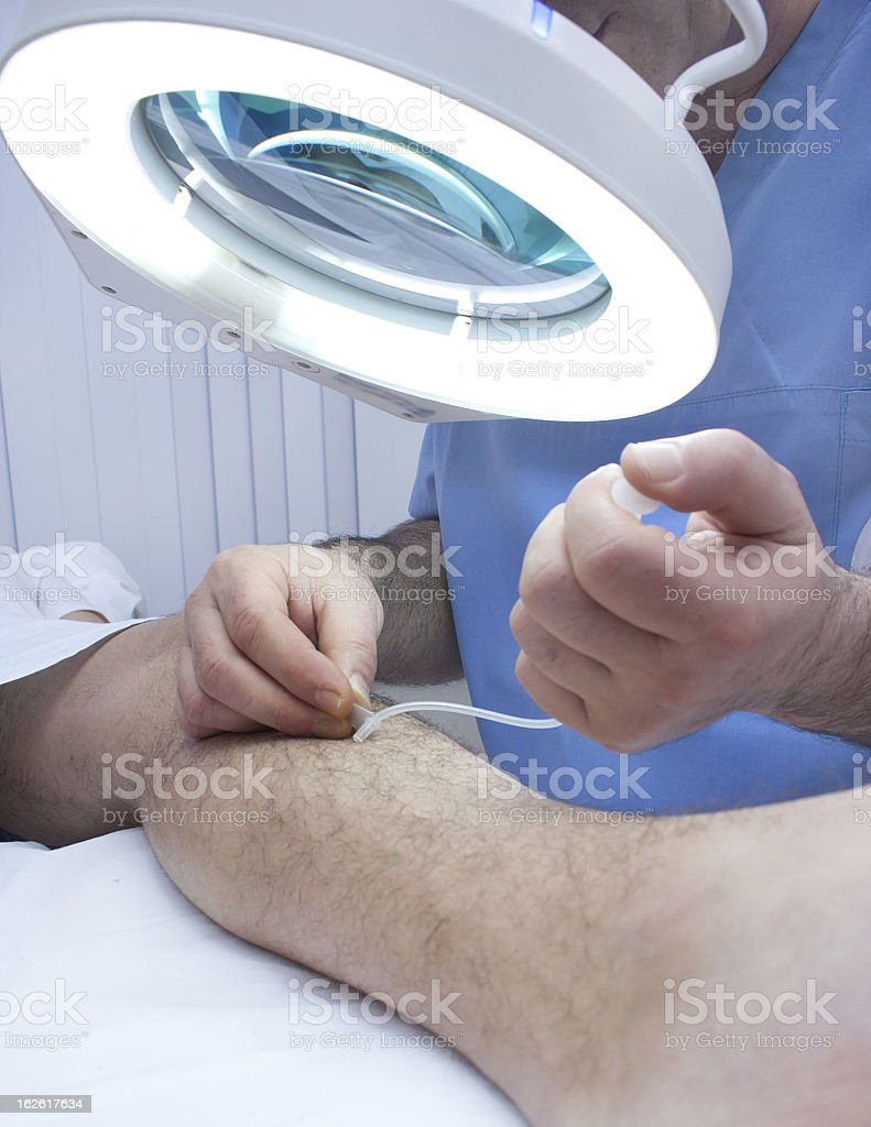 Varicosis injection royalty-free stock photo