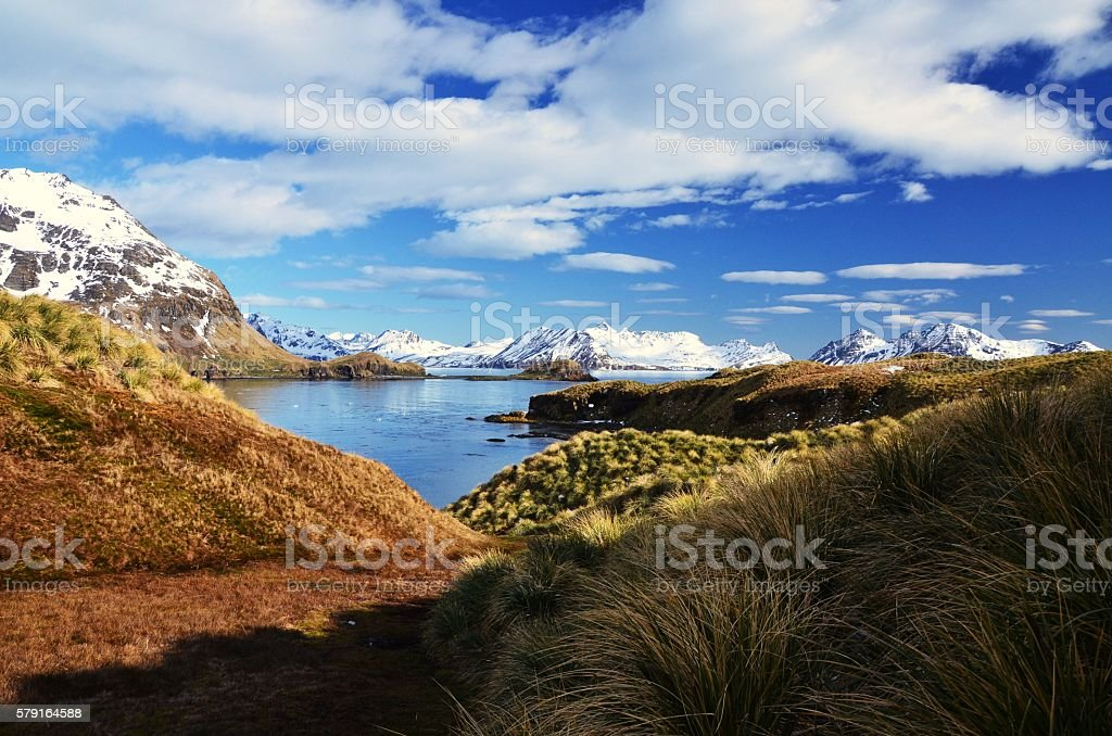 Varied Landscape of South Georgia stock photo