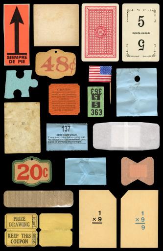 varied paper ephemera