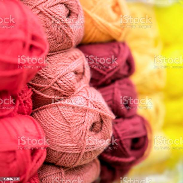 Variegated and bright pile of knitting yarn for knitting store of picture id905687196?b=1&k=6&m=905687196&s=612x612&h=5a4f8cgf1dhjejmzbemdaaboczbqjjfclvqfvjiepqm=