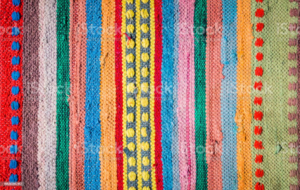 Variegated homespun rustic Mat stock photo