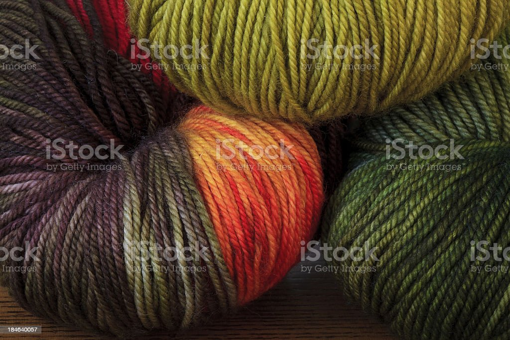 Variegated Yarn stock photo