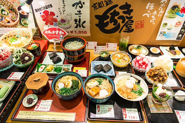 varieti of japanese food - japanese food stock photos and pictures
