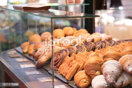 variety mixed bake pastry  - bakery window - pastries ,