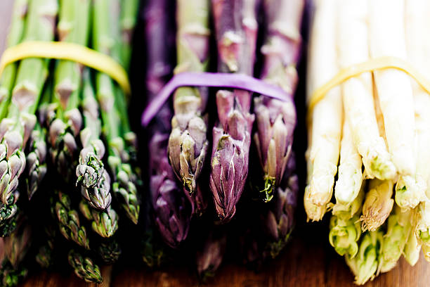 variety of asparagus - asparagus stock pictures, royalty-free photos & images