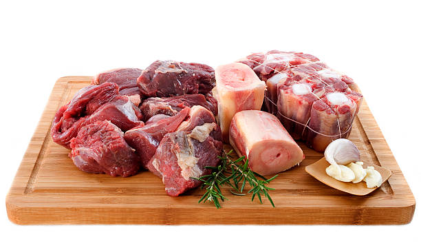 variety of beef meat variety of meat for cooking and pot-au-feu on a cooking board pot au feu stock pictures, royalty-free photos & images