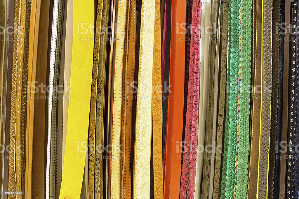 Variety of belts royalty-free stock photo