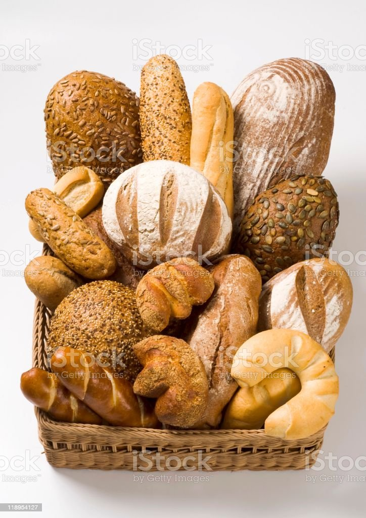 Variety of bread royalty-free stock photo