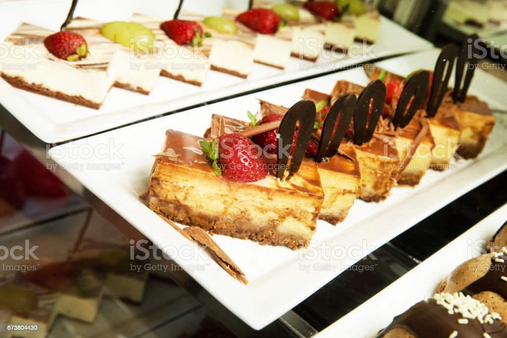 A variety of cakes photo libre de droits