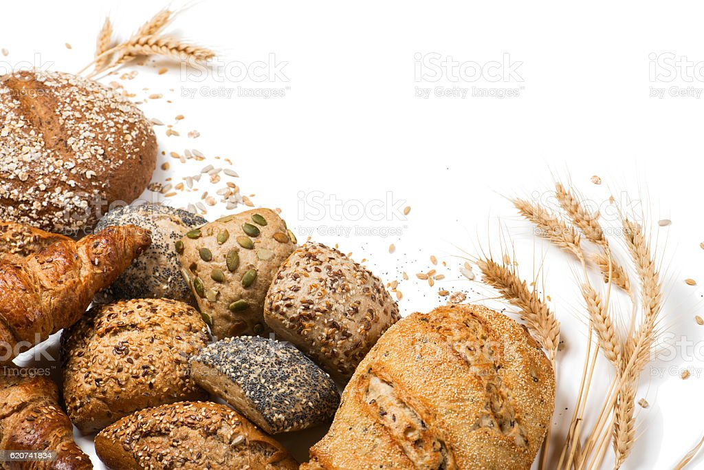 Variety of cereal bread stock photo