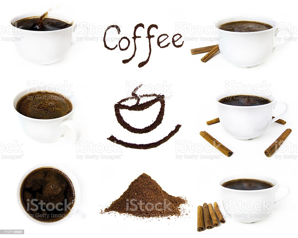 Variety of coffee component royalty-free stock photo