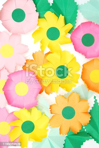 Variety of Colorful flower paper background