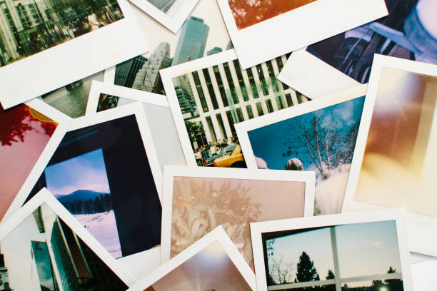 Variety of Colorful Instant Film Polaroid Pictures A collage of a variety of polaroid instant film pictures. image montage stock pictures, royalty-free photos & images