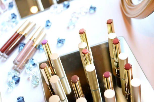 Cтоковое фото Variety of colorful lipstick