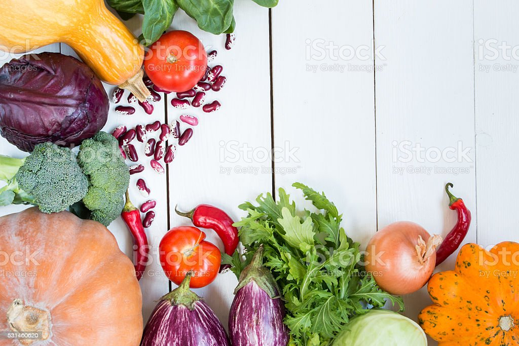 variety of colorful vegetables stock photo