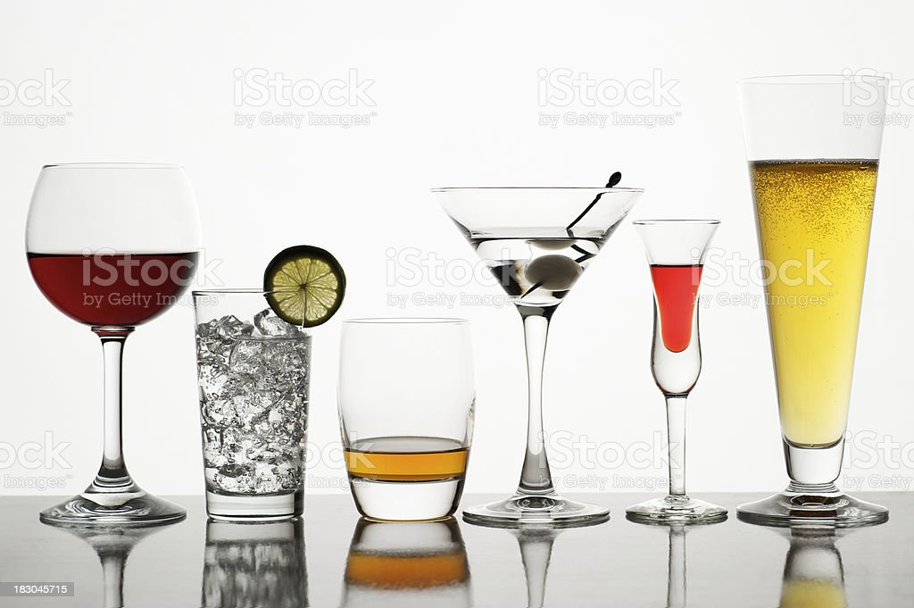 Variety of Drinks royalty-free stock photo