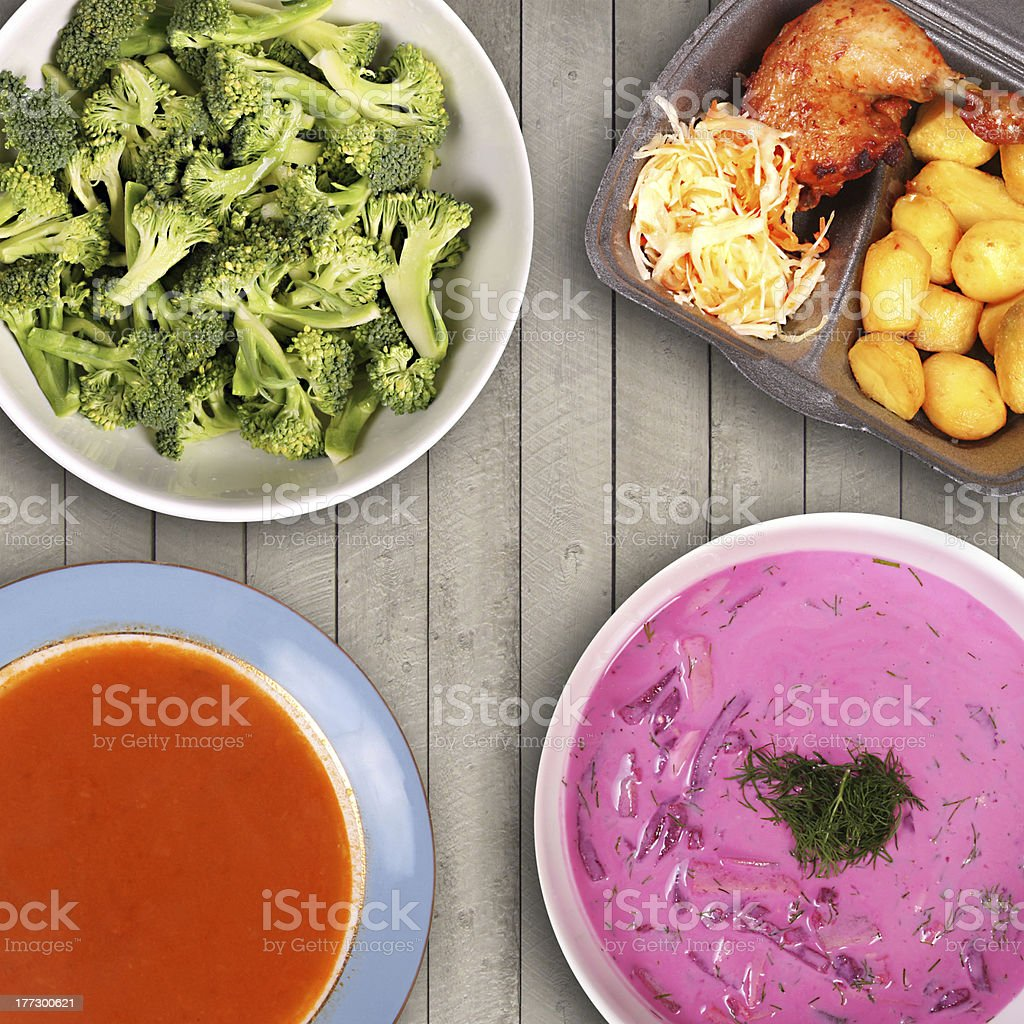 variety of food on the table royalty-free stock photo