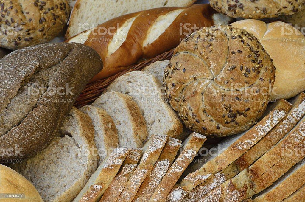 Variedad de pan fresco - Foto de stock de Agente leudante libre de derechos