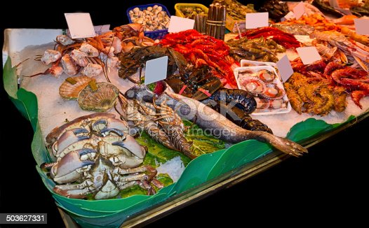 635931692istockphoto Variety of fresh fish in the market 503627331