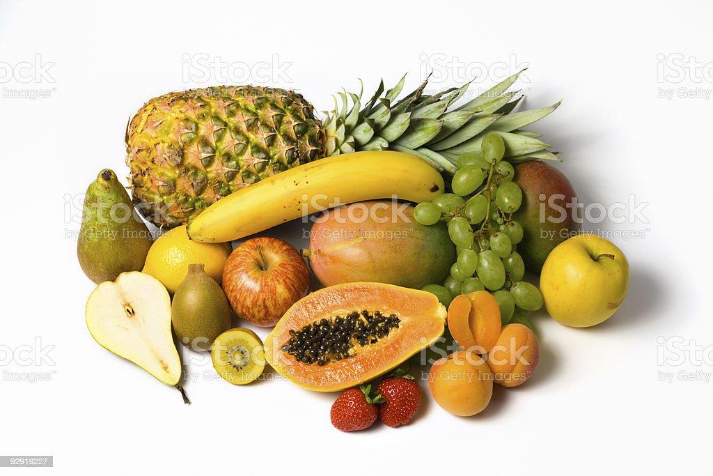 variety of fresh fruits royalty-free stock photo