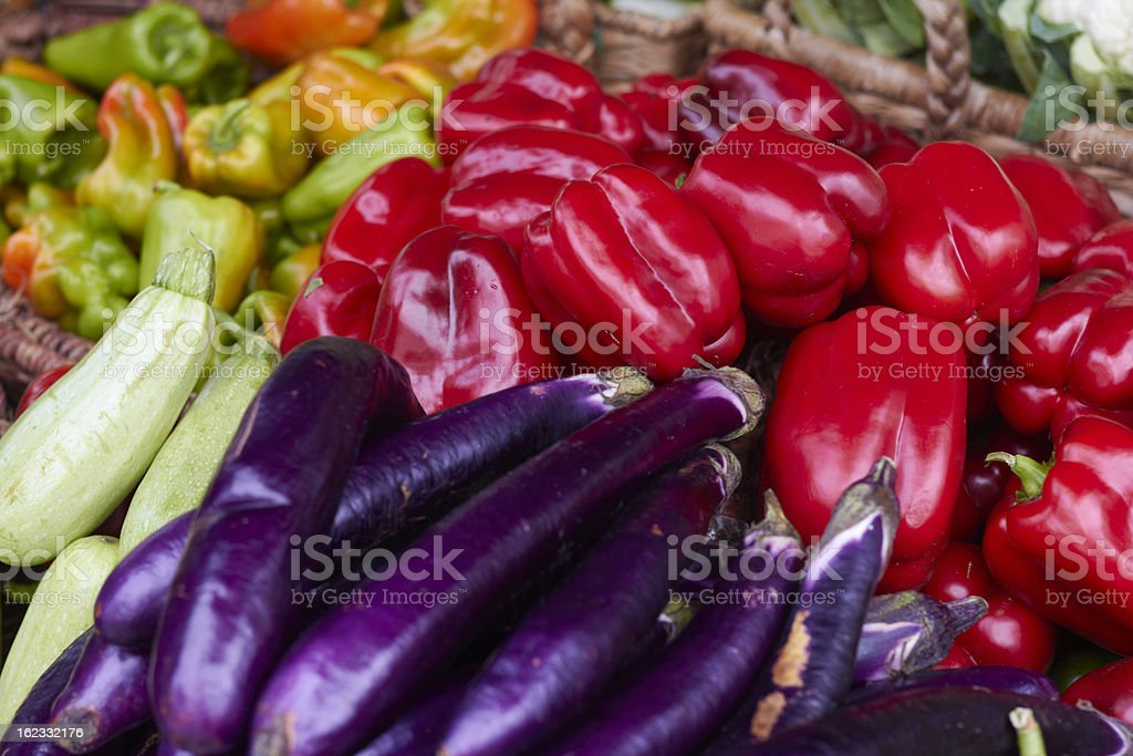 Variety Of Fresh Vegetables At the Market stock photo