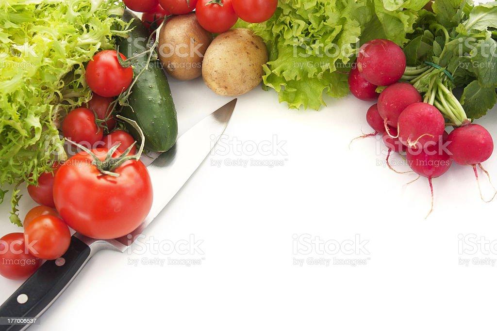 Variety of fresh vegetables royalty-free stock photo