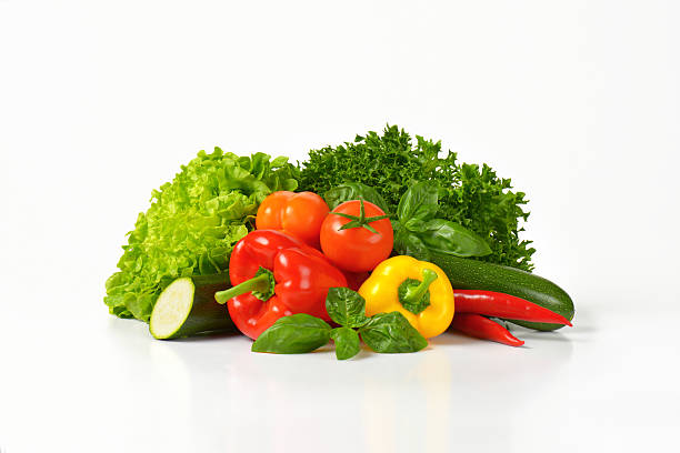 variety of fresh vegetables stock photo