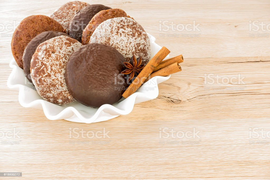 Variety of German Gingerbread stock photo