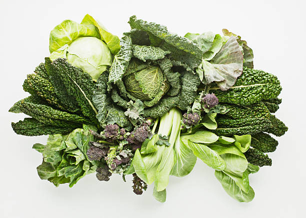 variety of green vegetables - lettuce stock photos and pictures