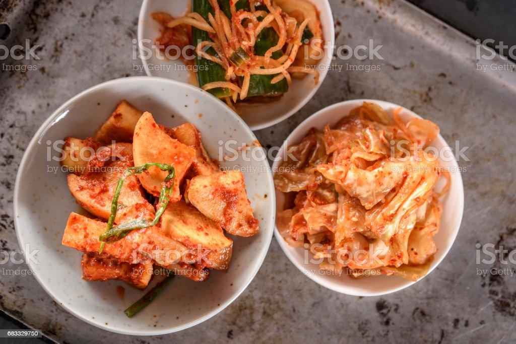 Variety of Kimchee royalty-free stock photo