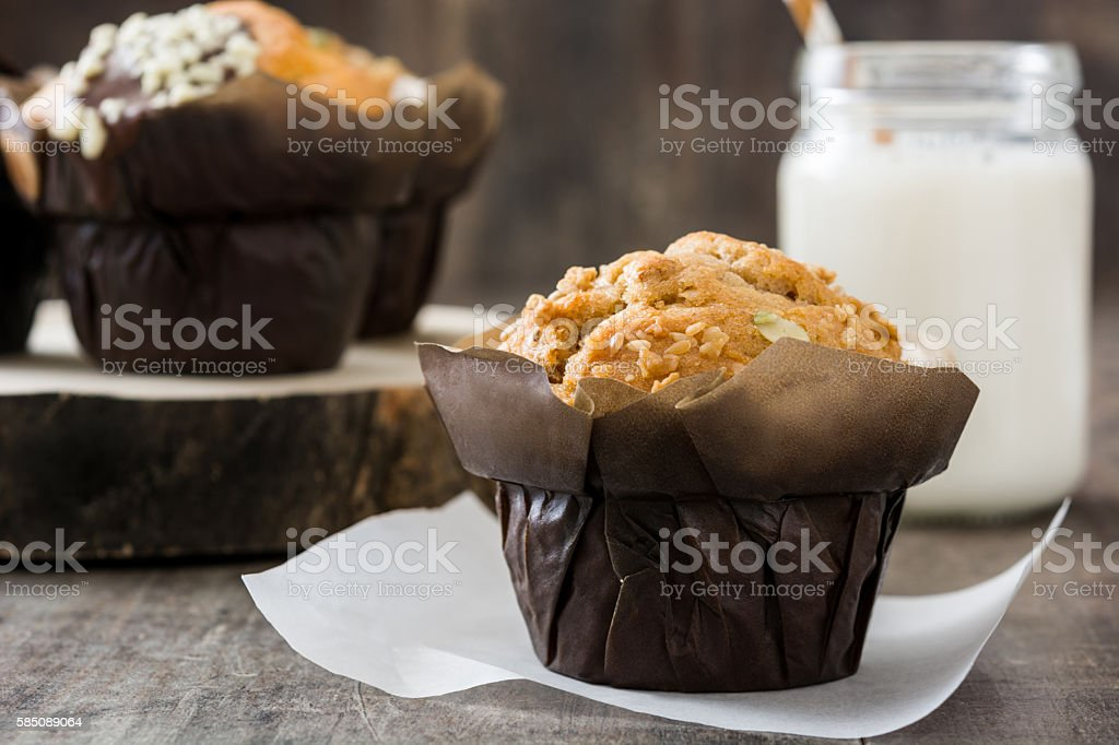 Variety of muffins stock photo
