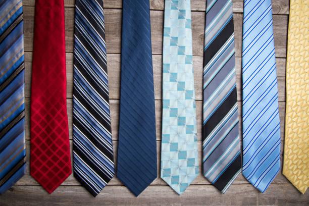 variety of neckties - gravata imagens e fotografias de stock