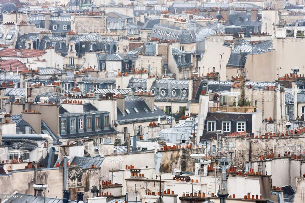 Variety of Paris roofs 免版稅 stock photo