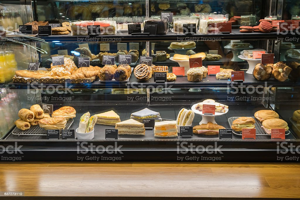 Variety of pastry stock photo