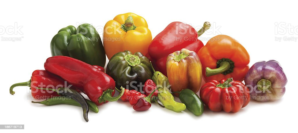 Variety of peppers royalty-free stock photo