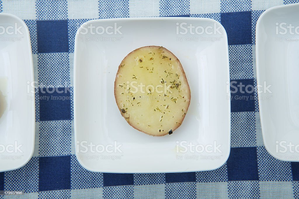variety of potato slices royalty-free stock photo