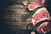 istock Variety of Raw Meat Steaks 1322731541