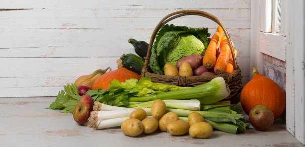 variety of raw vegetables to  cooking a french pot-au-feu variety of raw vegetables to  cooking a french pot-au-feu pot au feu stock pictures, royalty-free photos & images