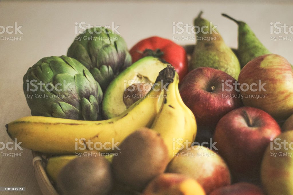 Variety Of Seasonal Fruits And Vegetables Background Stock Photo Download Image Now Istock