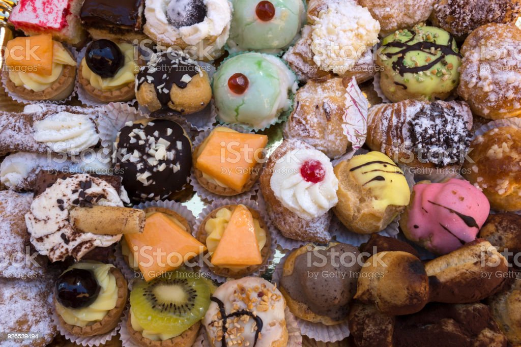 variety of Sicilian pastries - foto stock