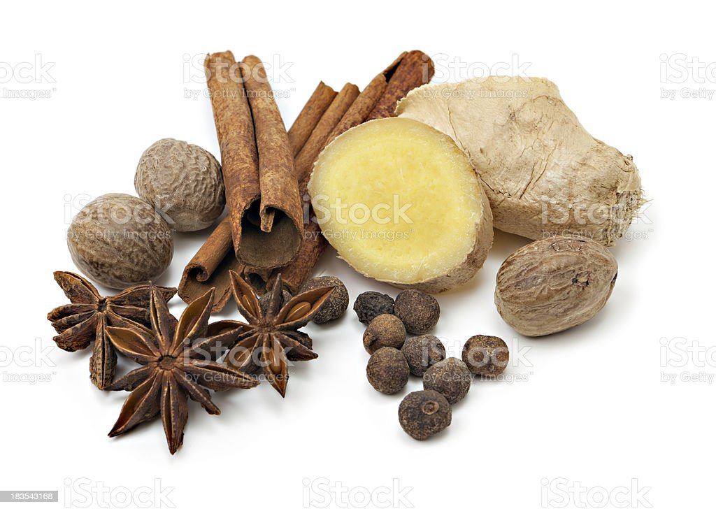 Variety of spice stock photo