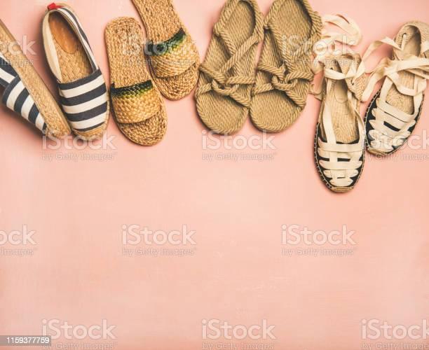 Variety of trendy summer shoes over pink background copy space picture id1159377759?b=1&k=6&m=1159377759&s=612x612&h=ogmilu79jguccbdomfvi8pj8rmilmtzezgt4isgj33i=
