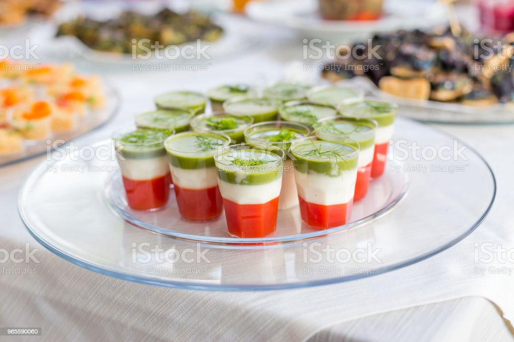 Variety Of Vegan Appetizers And Finger Food Stock Photo