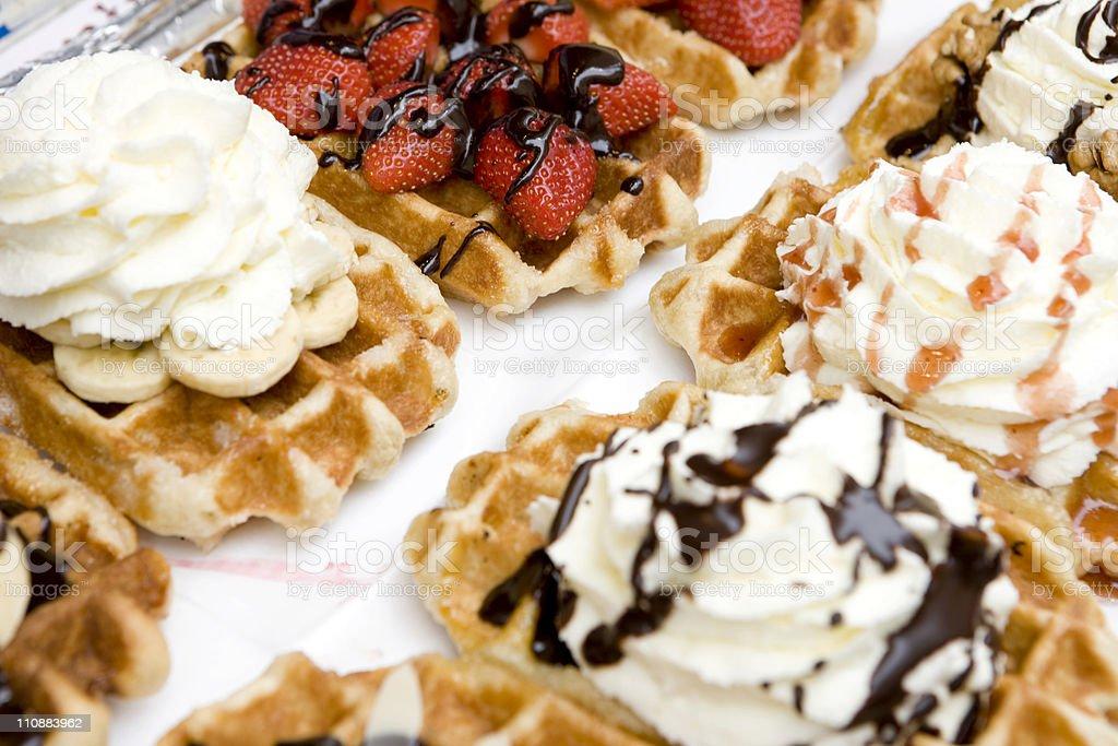 Variety of Waffles royalty-free stock photo
