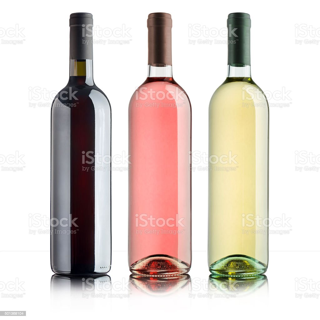 variety of wines stock photo
